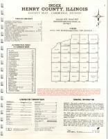 Index Map, Henry County 1974